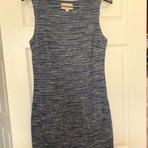 BR Blue Tweed work dress (Size 8)